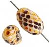 Glass Bead Painted Snake Twist 15x9mm Light Orange/Multi